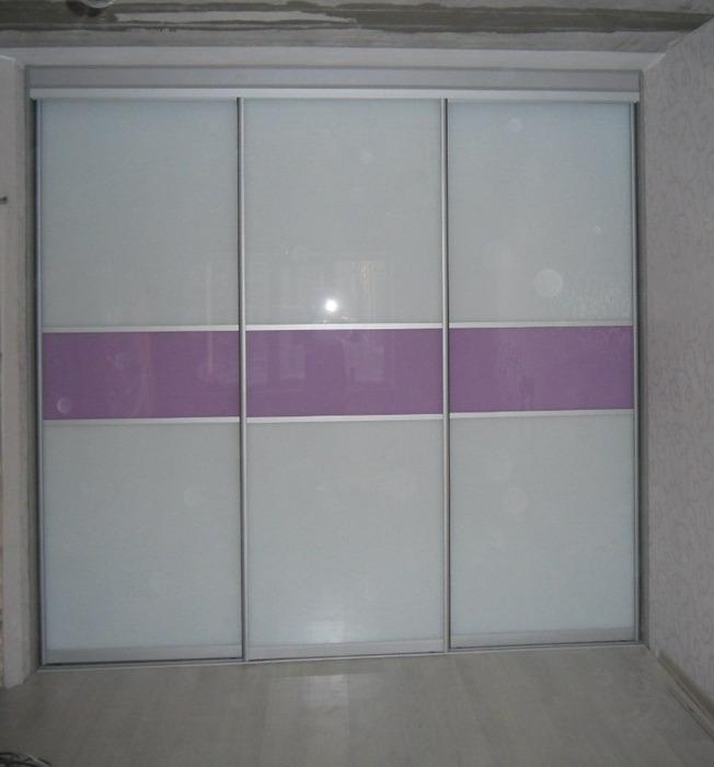 Большой шкаф-купе-Шкаф-купе из стекла с Oracal «Модель 153»-фото1