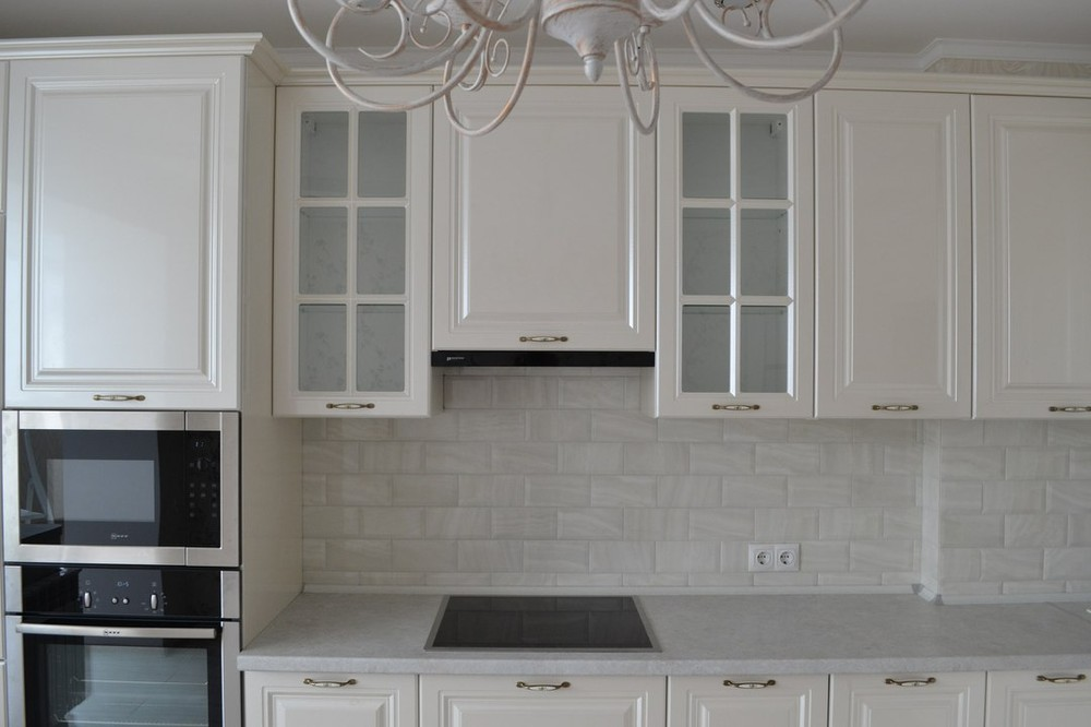 Белый кухонный гарнитур-Кухня МДФ в ПВХ «Модель 204»-фото6