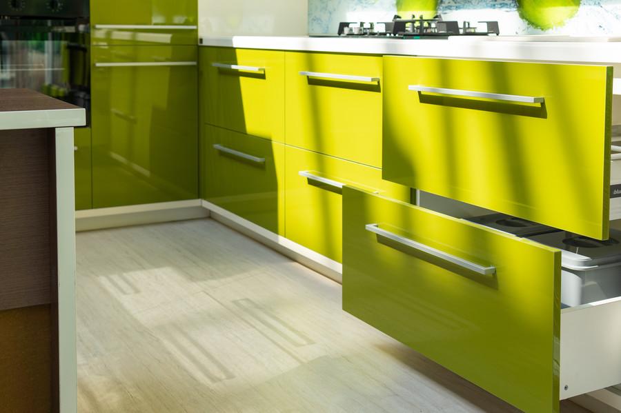 Глянцевые кухни-Кухня МДФ в ПВХ «Модель 53»-фото4