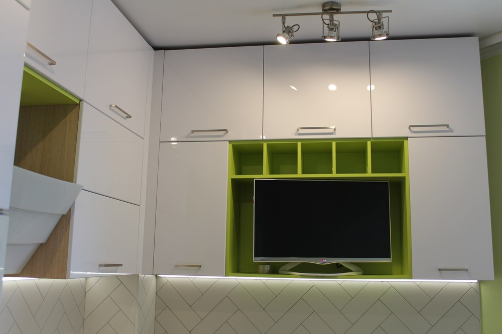 Акриловые кухни-Кухня МДФ в ПВХ «Модель 77»-фото3