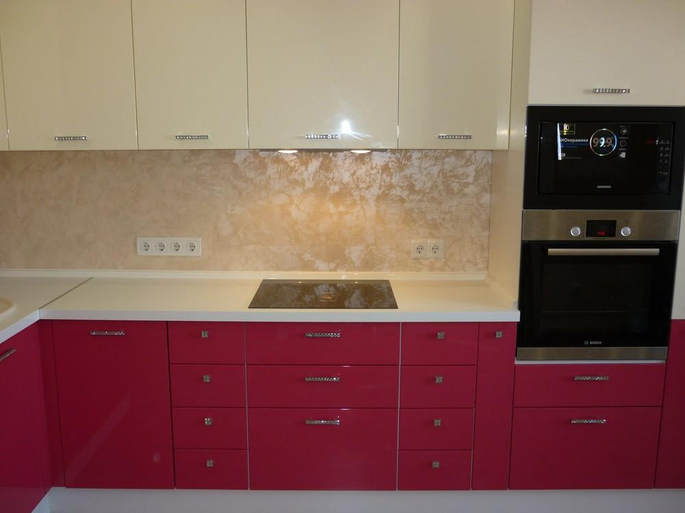 Встроенная кухня-Кухня МДФ в эмали «Модель 252»-фото3
