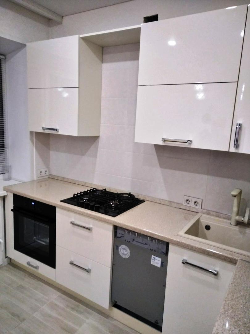 Белый кухонный гарнитур-Кухня МДФ в ПВХ «Модель 532»-фото2