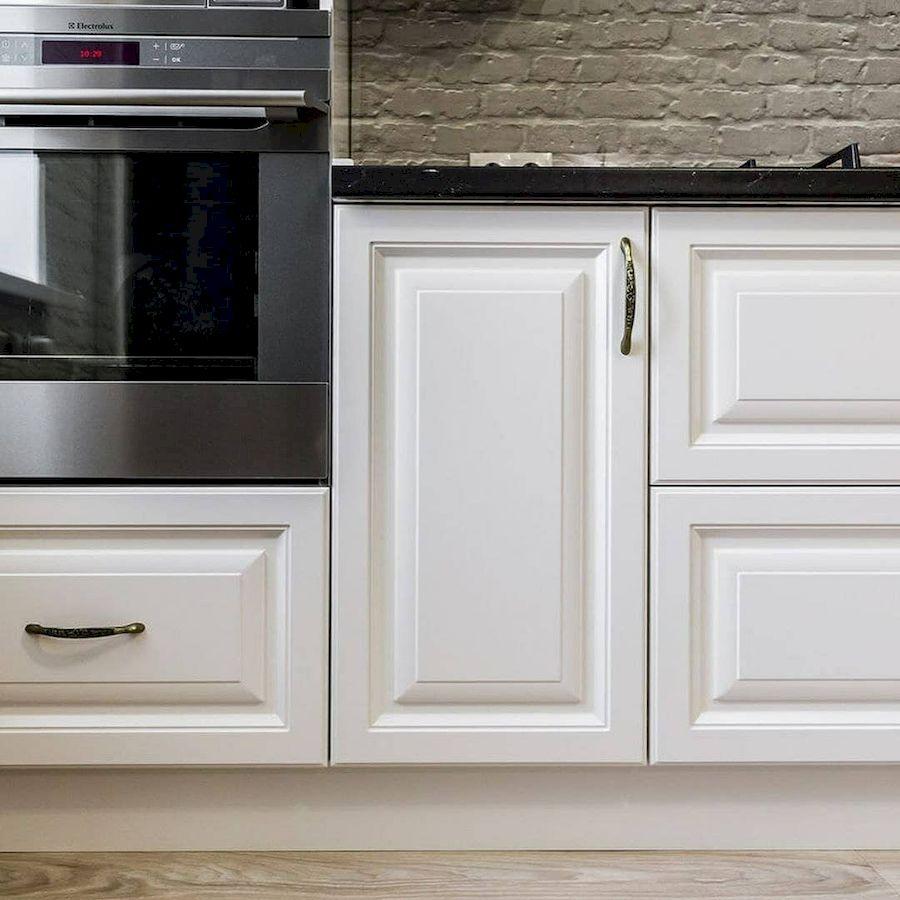 Белый кухонный гарнитур-Кухня МДФ в эмали «Модель 641»-фото5