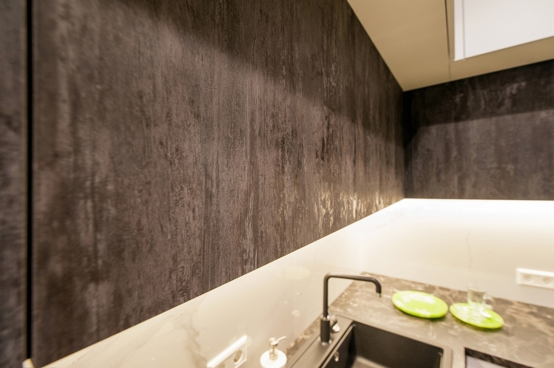 Белый кухонный гарнитур-Кухня из пластика «Модель 611»-фото3