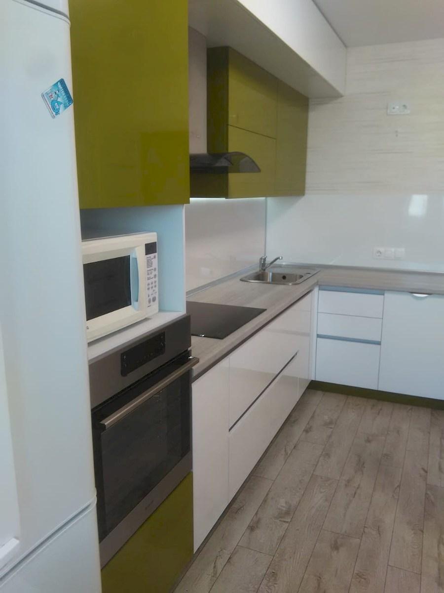 Белый кухонный гарнитур-Кухня из пластика «Модель 572»-фото6