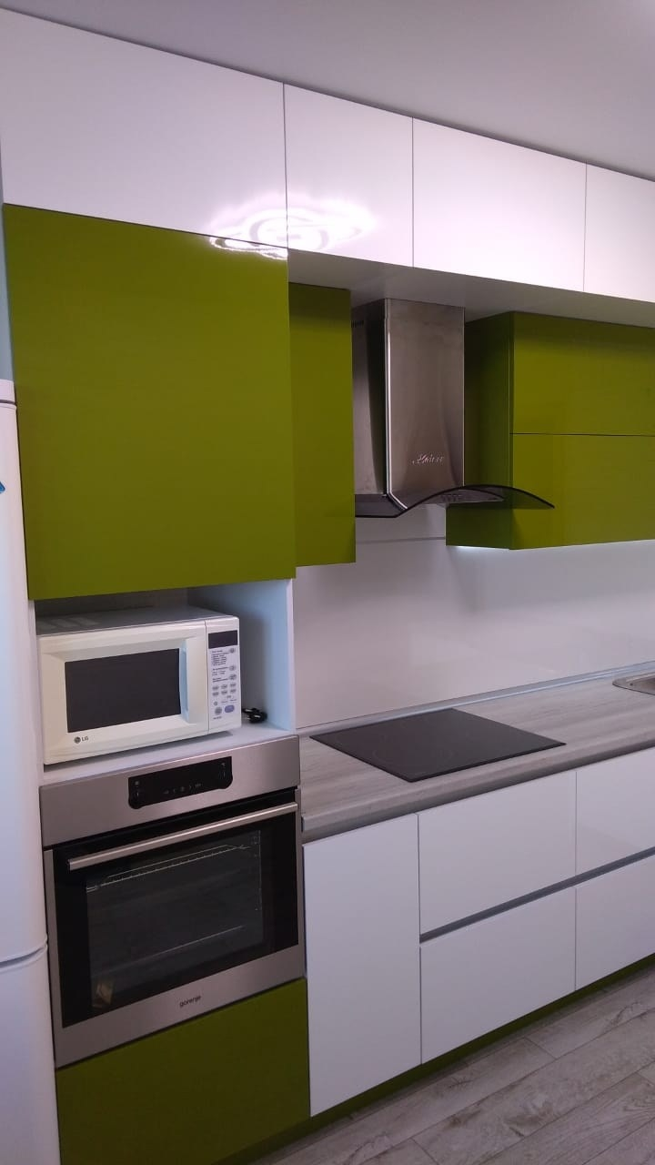 Белый кухонный гарнитур-Кухня из пластика «Модель 572»-фото10
