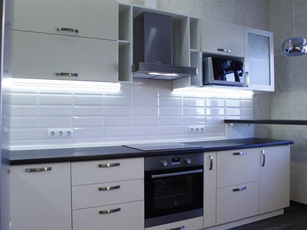 Акриловые кухни-Кухня из пластика «Модель 201»-фото3