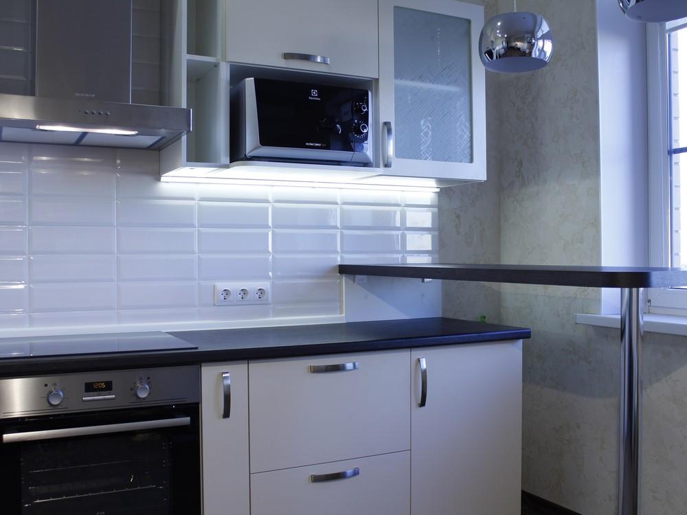 Акриловые кухни-Кухня из пластика «Модель 201»-фото4