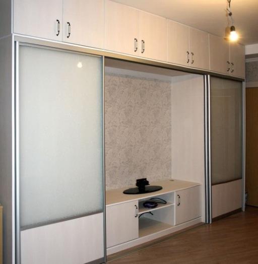 Белые шкафы-купе-Шкаф-купе из ЛДСП «Модель 314»-фото2