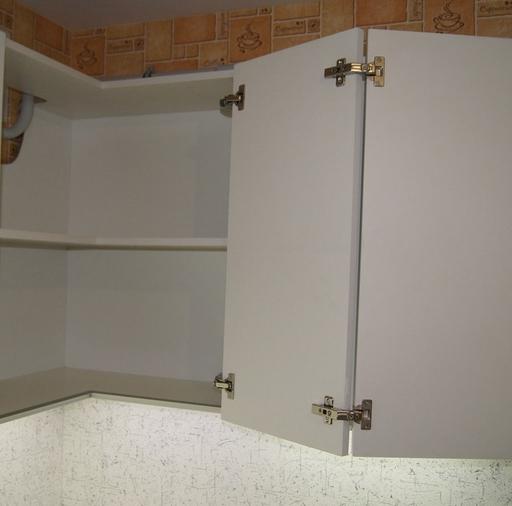 Белый кухонный гарнитур-Кухня МДФ в эмали «Модель 286»-фото10